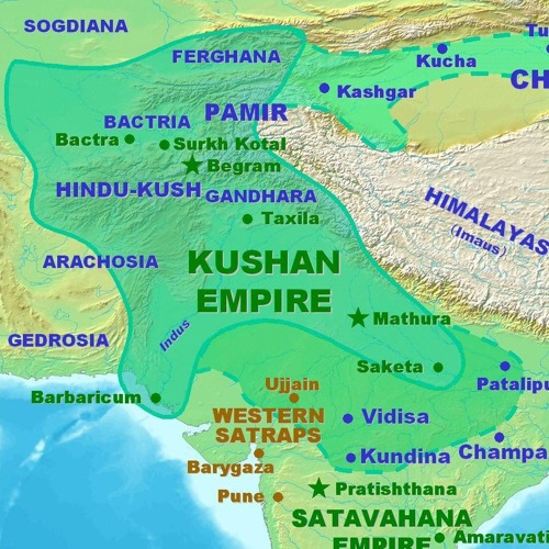 The Kushan Empire | Free Listening on SoundCloud on parthian empire map, choson empire map, sassanid empire map, ancient egypt nubia and kush map, gupta empire map, chola kingdom map, hephthalite empire map, ming dynasty map, frankish kingdom map, timurid empire map, umayyad empire map, afghan empire map, ghana empire map, pallava empire map, union of soviet socialist republics map, kangxi empire map, delhi sultanate map, khmer empire map, ancient persia empire map, greco-bactrian empire map,