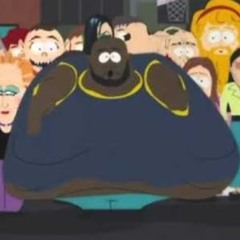 Incredibly Black Obese Man
