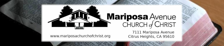Mariposa Ave church of Christ
