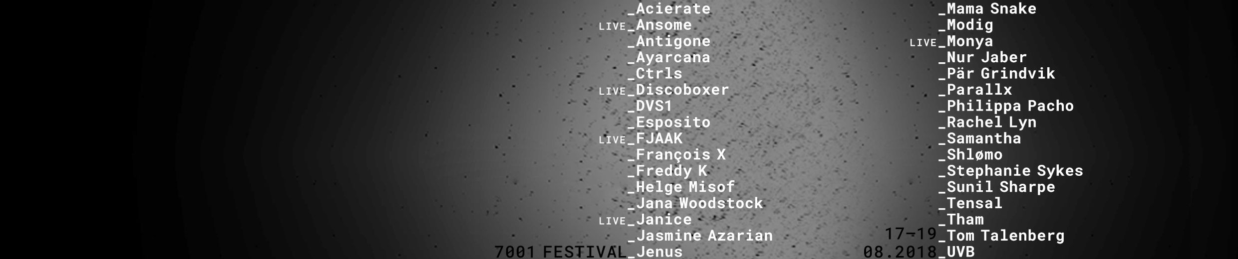 7001 Podcast Series By 7001festival
